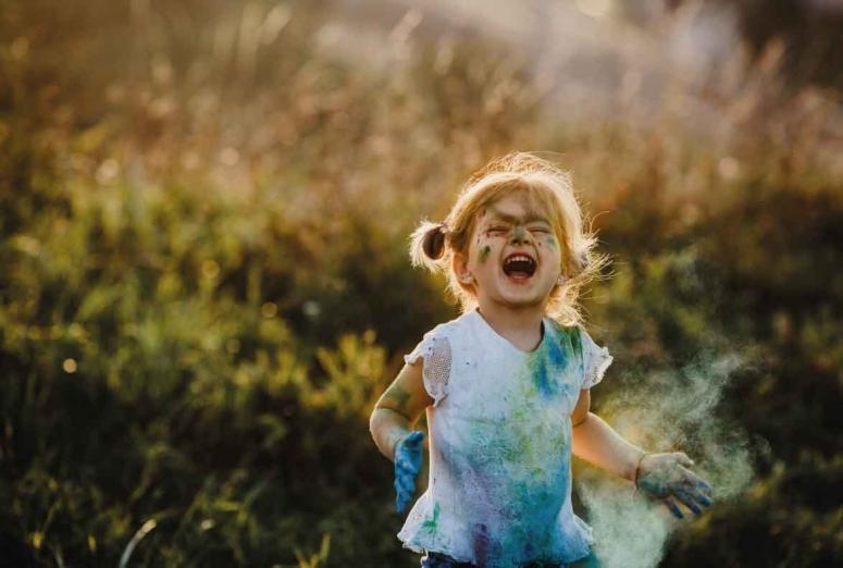 Definición de alegría para niños
